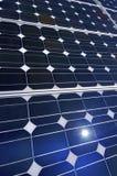 Detalle de un panel fotovoltaico fotos de archivo libres de regalías