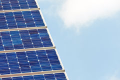 Detalle de un panel solar Fotos de archivo libres de regalías