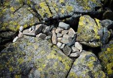 Detalle de un paseo de la montaña del granito Foto de archivo