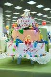 Detalle de un pastel de bodas Foto de archivo libre de regalías