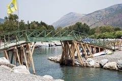 Detalle de un puente del río Foto de archivo