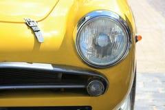 Detalle de un sportscar italiano de la vendimia Imagen de archivo libre de regalías