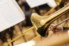 Detalle de un trombón Foto de archivo libre de regalías