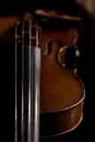 Detalle de un violín Imágenes de archivo libres de regalías