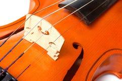 Detalle de un violín Foto de archivo libre de regalías