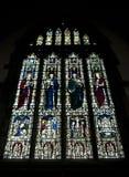 Detalle de un vitral en la abadía de Crowland, Crowland, Li Fotos de archivo libres de regalías