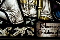 Detalle de un vitral en la abadía de Crowland, Crowland, Li Foto de archivo libre de regalías