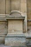 Detalle de una base de columna en la lumbrera imagen de archivo libre de regalías