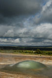 Detalle de una burbuja en área del geysir, Islandia imagen de archivo