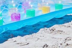 Cama de aire en la playa Fotografía de archivo libre de regalías