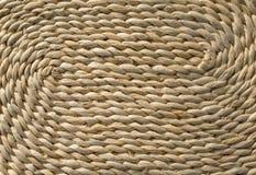 Detalle de una cesta tejida Imagenes de archivo