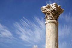 Detalle de una columna romana Imágenes de archivo libres de regalías