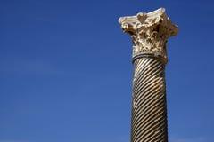 Detalle de una columna romana Fotografía de archivo libre de regalías