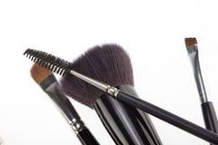 Detalle de una composición con los cepillos del maquillaje Fotografía de archivo libre de regalías
