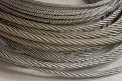 Detalle de una cuerda de alambre galvanizada Fotografía de archivo