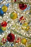 Detalle de una decoración moderna del árbol de navidad Imagen de archivo libre de regalías