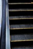 Detalle de una escalera móvil Imágenes de archivo libres de regalías