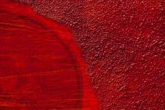 Detalle de una estructura artística roja de la pared Imágenes de archivo libres de regalías