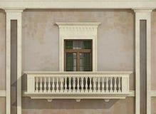 Detalle de una fachada clásica Imagen de archivo libre de regalías