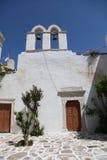 Iglesia en la isla de Paros foto de archivo libre de regalías