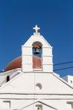 Detalle de una iglesia en Mykonos - Grecia Fotos de archivo libres de regalías