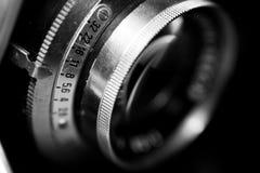 Detalle de una lente photografic vieja Imagenes de archivo