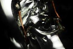 Detalle de una macro incandescente de la bombilla fotos de archivo