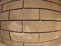 Detalle de una pared cubierta con el cemento Foto de archivo