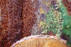 detalle de una pared del metal Imagenes de archivo