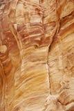 Detalle de una pared en el Siq en el Petra Imagenes de archivo