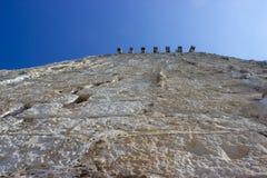 Detalle de una pared de piedra fotografía de archivo