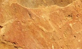 Detalle de una piedra arenisca anaranjada Imágenes de archivo libres de regalías