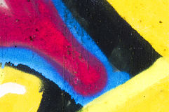 Detalle de una pintada como papel pintado, textura, colector del ojo Fotografía de archivo