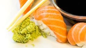 Detalle de una placa del sushi Foto de archivo libre de regalías