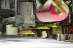 Detalle de una prensa de la impresión en offset fotos de archivo libres de regalías
