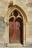 Detalle de una puerta de Santa Maria de Poblet Monastery Fotos de archivo