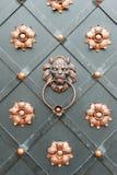 Detalle de una puerta del hierro Foto de archivo