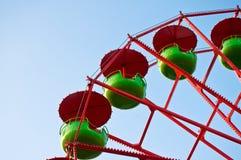 Detalle de una rueda de Ferris Imágenes de archivo libres de regalías