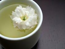 Detalle de una taza de té floral asiática Imágenes de archivo libres de regalías