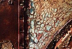 Detalle de una vieja estructura del metal imagenes de archivo