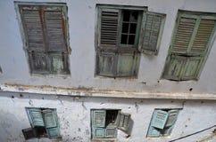 Detalle de ventanas viejas, ciudad de piedra, Zanzibar Fotografía de archivo libre de regalías