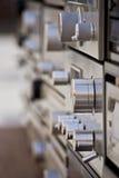 Detalle de viejos componentes estéreos Fotografía de archivo libre de regalías