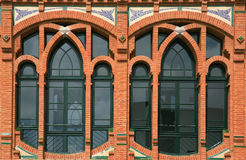 Detalle de Windows de un modernismo Fotografía de archivo libre de regalías
