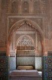Detalle decorativo en las tumbas de Saadian Foto de archivo