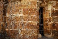 Detalle del ábside en el monasterio de San Clodio, provincia de Lugo, SP Fotografía de archivo