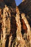 Detalle del acantilado de la barranca de Zion Foto de archivo