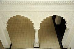 Detalle del adorno y del modelo en Sultan Ismail Airport Mosque - el aeropuerto de Senai Foto de archivo