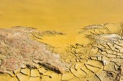 Detalle del agua contaminada Foto de archivo