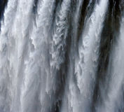 Detalle del agua que cae Victoria Falls Primer parque nacional Mosi-oa-Tunya y sitio del patrimonio mundial Zambiya zimbabwe Imagen de archivo libre de regalías