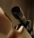 Detalle del alcance del rifle Imágenes de archivo libres de regalías